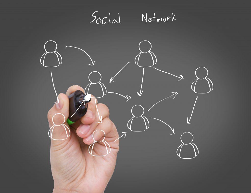 Illustration du concept de réseau social.