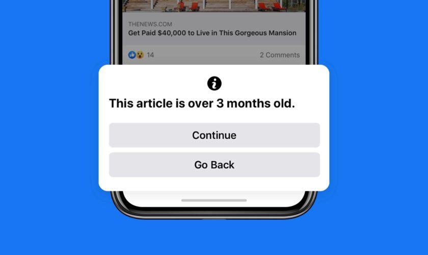 Facebook traque les articles vieux de plus de 3 mois.